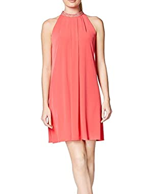 Calvin Klein Watermelon Womens Embellished Shift Dress Pink 2