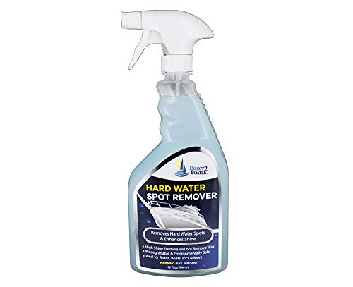 Hard Water Spot Remover for Boats, Autos, Motorcycles, ATV's & RV's - 32 fl oz Biodegradable High Shine Formula (Meguiars Hard Water Spot Remover 16 Fl Oz)
