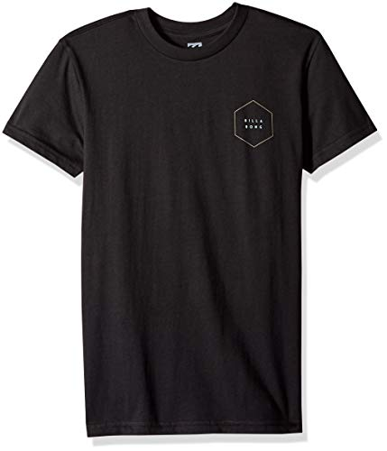(Billabong Boys' Access Border T-Shirt Black Medium)