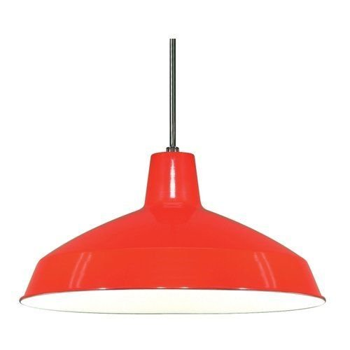 Light 16 Inch Pendant Warehouse Shade - Nuvo Lighting 76/663 Red Single Light 16