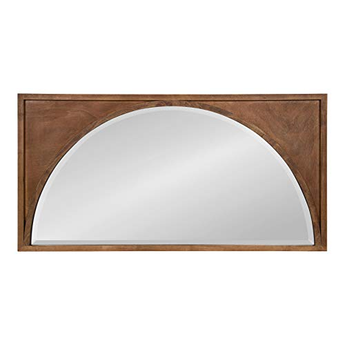 Kate and Laurel Andover Casual Framed Arch Mirror with Beveled Edge, Light Brown, 42x21.5, Modern Farmhouse Home Decor for Entryway, Living Room, Or Bedroom ()