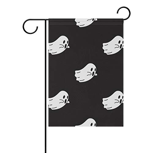 Top Carpenter Ghost Halloween Wallpaper Double-Sided Printed Garden House Sports Flag - 12x18in - 100% Premium Polyester Decorative Flags for Courtyard Garden -