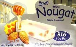 Massam's Honey & Almond Nougat (6 pack)