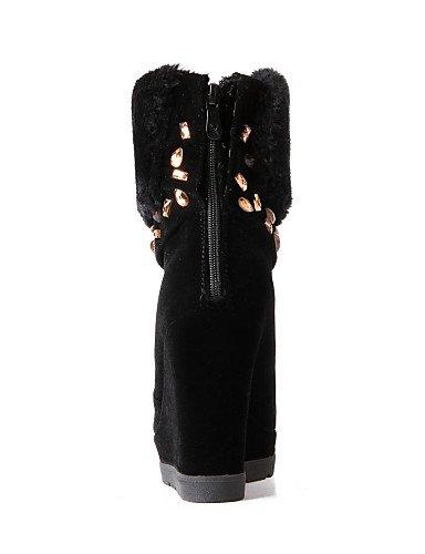 XZZ  Damenschuhe - Stiefel - Kleid   Lässig Lässig Lässig - Vlies - Keilabsatz - Wedges   Rundeschuh   Modische Stiefel - Schwarz   Rot B01L1GKUWO Sport- & Outdoorschuhe Neue Sorten werden eingeführt 973101