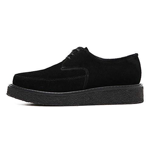 Hee De Black Zapatos Comodidad Oxfords Cordones La DANDANJIE Caen con Zapatos Mujer Negros Flat Tq856pw