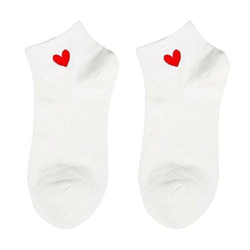 Heart Ankle Socks (Allywit Womens Heart Ankle High Low Cut Cotton Socks (B))