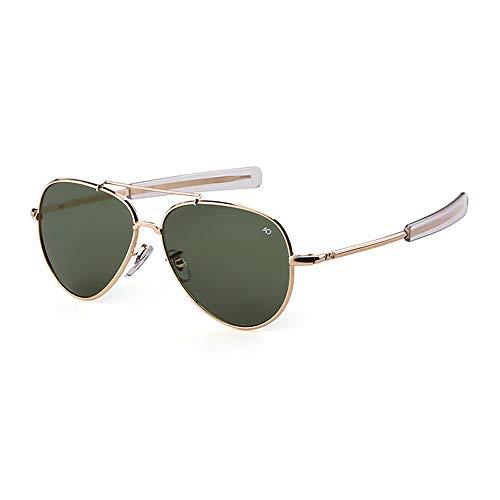 de de EnzoDate UV400 militar fuerza aviador bayoneta de los sol Dorado piloto aérea templos Verde de la ejercito Gafas vqrHxvg