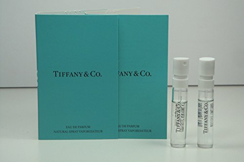 2x TIFFANY & CO. for Women Perfume 0.04oz / 1.2ml EDP Spray Mini Vial Sample NEW carded 0.04 Ounce Vial