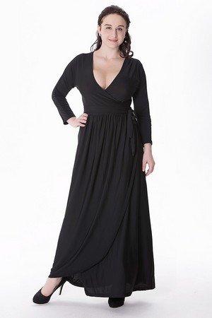 ... Beauty7 Elegant Langarm Maxikleid Lang Sommerkleid Tief-V-Ausschnitt  Plus Size Kleid Maxi Dress ... f46d678403