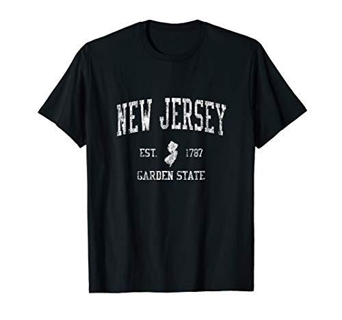 Retro New Jersey NJ T Shirt Vintage Sports Tee Design