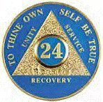 GPMT BLUE 24 Hour AA Recovery Medallion - The Great 24 hr Coin Reminder Commemorative