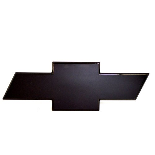 Bow Chevy Tie Silverado Tail (AMI 96091K Chevy Bowtie Tailgate Emblem without Border- Black Powder coat, 1 Pack)