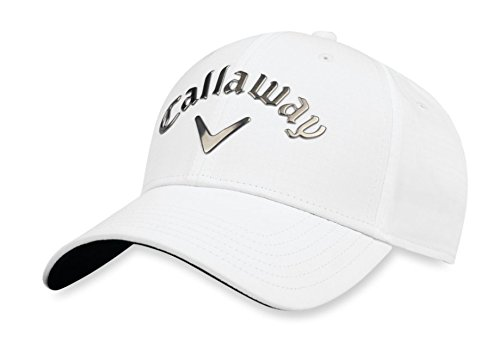 Callaway Golf 2018 Liquid Metal Adjustable Hat, Adjustable, White/ Gunmetal (Callaway Hat White)