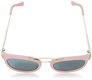 A.J. Morgan Women's Eh Rectangular Sunglasses, Matte Pink, 54 mm