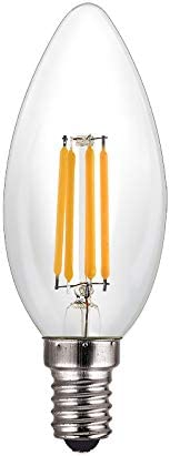 Bombillas LED Edison de cristal de fresa LED flexible y suave Edison Retro fuente de luz fresa E27 S tipo marrón vidrio 2300 K E27, 3000k (Warm White), 150W