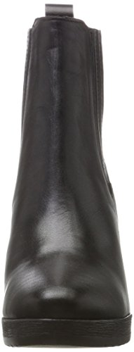 Schwarz para Black Bianco Plateau Stiefelette Botas Mujer WFxwwp6Pq