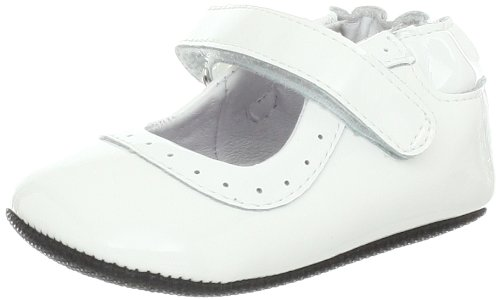 Robeez Gracie White Mini Flat (Infant),White,6-9 Months M US Infant