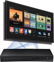 Samsung Blu-Ray Player with Built-in Wi-Fi-Apps Built-in for Streaming +HDMI Cable