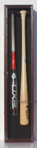 ay Case Rack Cabinet Holder Wall Mount, w/UV Protection, Lock (Mahogany Finish) ()