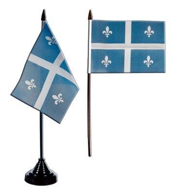Flaggenfritze/® Tischflagge Kanada Quebec 10x15 cm