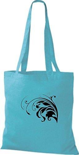 Shirtinstyle - Bolso de tela de algodón para mujer - sky blue