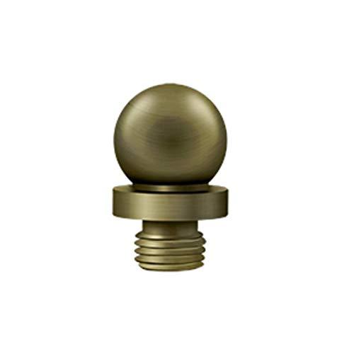 Deltana DSBT Decorative Solid Brass Decorative Ball Tip Finial for Deltana Hinge, Antique Brass