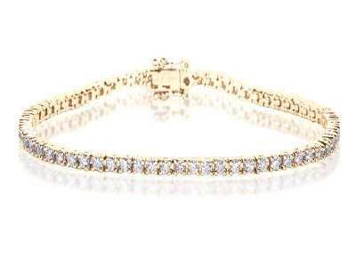 2CT Certified G/VS2 Round Brilliant Cut Claw Set Diamond Tennis Bracelet in 18K White Gold