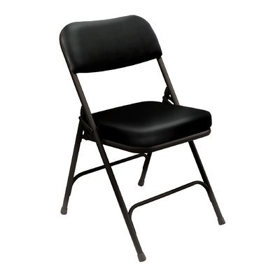 National Public Seating 2 in. Vinyl Upholstered Folding Chairs in Black by National Public Seating