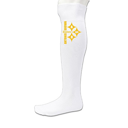 EDRE Antonio Player-Pittsburgh Team Men's&Women's Soccer Game SocksWhite (1 Pair)