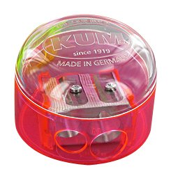 - Kum 301.08.21 Magnesium 2-Hole Dome Shape Inner Pencil Sharpener, Colors Vary