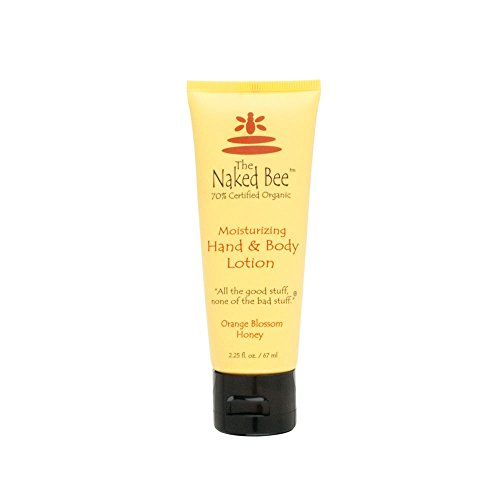 The Naked Bee Orange and Honey Blossom Hand & Body Lotion for Women, 2.25 Ounce