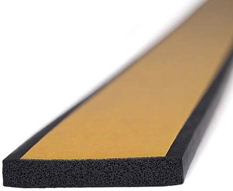 M M Seal A064 - Sello de goma con esponja autoadhesiva, 1 cm de alto x 4 cm de ancho, tira de neopreno universal para extrusión de burletes