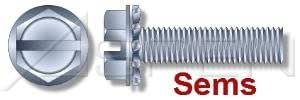 12-24 x 1//2 SEMS Screws//External Tooth Washer//Slotted//Hex Washer Head//Steel//Zinc Quantity: 4,000 pcs