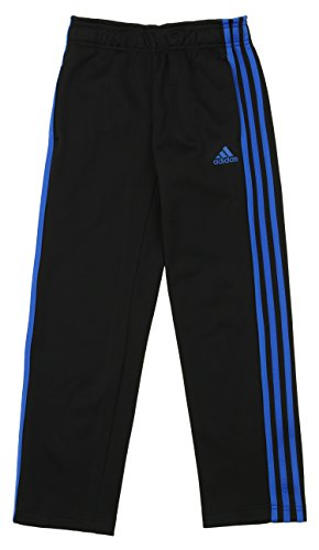 Adidas Big Boys Fleece Pants (Kid) - Black/Blue - X-Large Adidas Lined Shorts