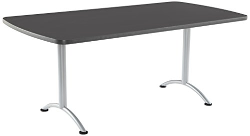 "Iceberg ICE69227 ARC 6-foot Rectangular Conference Table, 36"" x 72"", Graphite/Silver Leg"