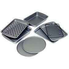 BakerEze 8 Piece Non Stick Toaster Oven Bakeware Set Round R