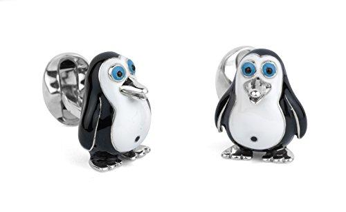 Deakin & Francis Sterling Silver Penguin Cufflinks by Deakin and Francis
