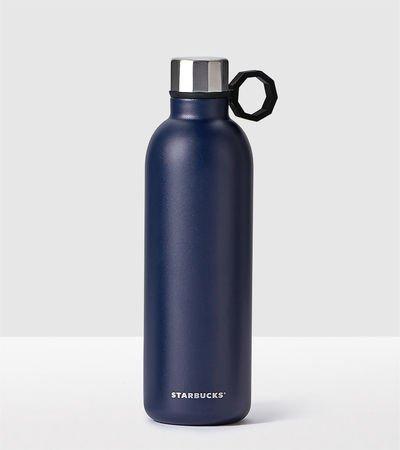 Starbucks Navy Blue Stainless Steel Water Bottle