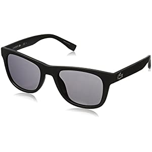 Lacoste Unisex L790S Rectangular Sunglasses, Matte Black, 52 mm