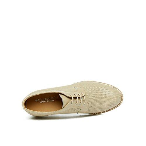 Derby Mujer Frank Zapatos Topo Para Daniel de Cordones Piel de Beige PP58OqRWn