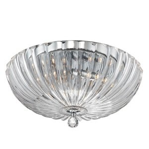 Eurofase 23223-011 Aurora 3-Light Flush Mount, Clear
