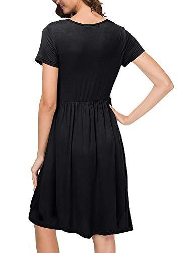 Buy short sleeve midi dress plus size