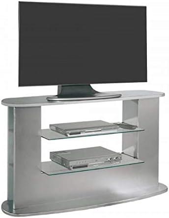SZ Suarez Mesa Television Salon Mueble Auxiliar TV Color Gris Estilo Moderno contemporaneo 132x69x45: Amazon.es: Hogar