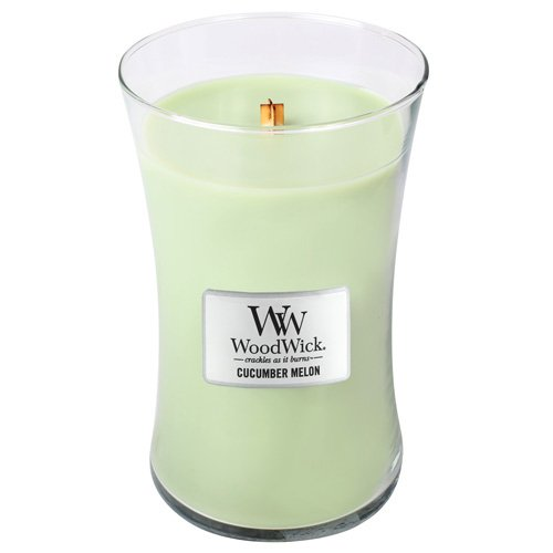 CUCUMBER MELON WoodWick 22oz Scented Jar Candle