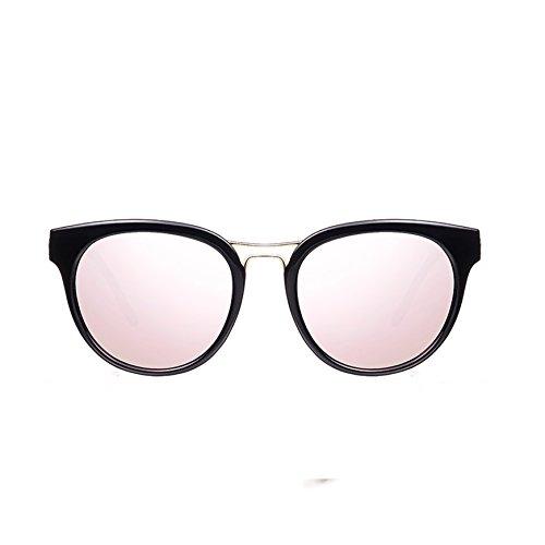 élégante nouvelle personnalité des lunettes de soleil mesdames les lunettes de soleil les lunettes la marée de stars visage rond korean les yeuxtransparent noir (tissu) Ctd2D