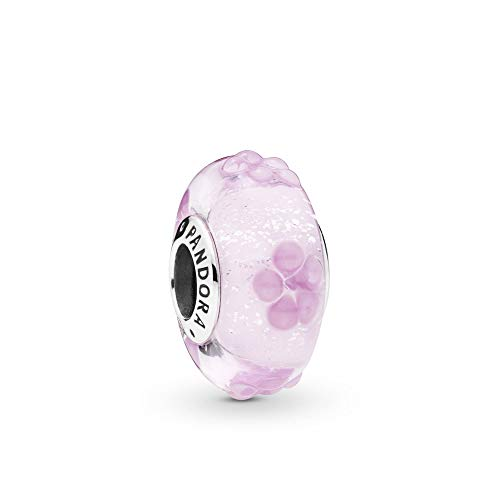 (PANDORA Pink Flower Glass 925 Sterling Silver Charm - 797901)