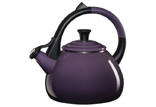 Le Creuset Enameled Steel Oolong Tea Kettle, 1.6-Quart, Cassis](Stovetop Purple Tea Kettle)