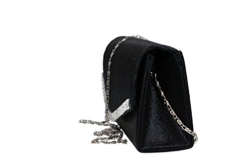 LUCA with strass VN2013 black pochette for Purse woman ceremonies BORSE 7Bqx156