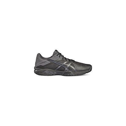 Asics Gel-Solution Speed 3, Zapatillas de Gimnasia para Hombre, Blanco Negro (Black/dark Grey)