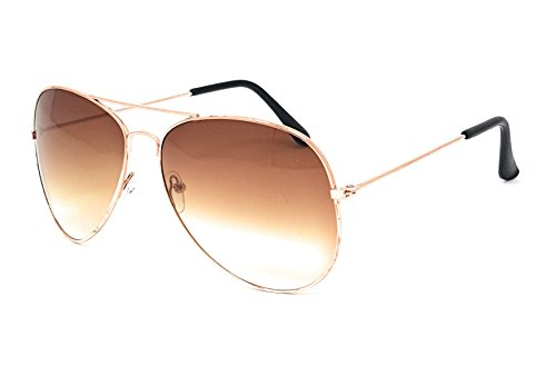 Aviator Sunglasses with 100% UV Protection By Pointed Designs (Silver, - Aviator Basketball